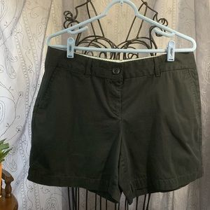 Ann Taylor Loft Black Chino Shorts